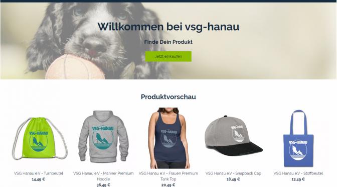 VSG-HANAU e.V. Merchandise-Shop Online !